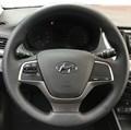 Оплетка на руль из натуральной кожи Hyundai Solaris II 2017-н.в. - фото 10807