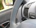 Оплетка на руль из натуральной кожи Hyundai Accent без подушки безопасности - фото 10904
