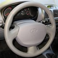 Оплетка на руль из натуральной кожи Hyundai Accent с подушкой безопасности - фото 10909