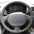 Оплетка на руль из натуральной кожи Hyundai Accent с подушкой безопасности - фото 10910