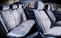 Комплект темно-серых накидок на сиденья CITY PLUS - фото