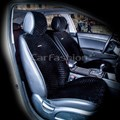 черные накидки City на 2 передних сидения - фото