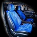 синие накидки City на 2 передних сидения - фото