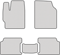 EVA коврики для Lada (Лада) белые