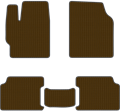 EVA коврики для Volkswagen коричневый