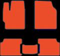 EVA коврики для Ford оранжевые