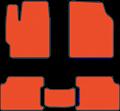 EVA коврики для Toyota RAV 4  IV (СA40) оранжевые