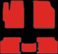 EVA коврики для Toyota RAV 4 III (СA30) красные