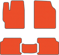 EVA коврики для Toyota RAV 4 III (СA30) оранжевые