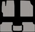 EVA коврики для Toyota Corolla X (E140, E150) серые
