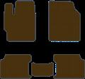 EVA коврики для Toyota Corolla X (E140, E150) коричневый