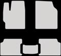 EVA коврики для Toyota Corolla X (E140, E150) белые