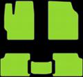 EVA коврики для Nissan зеленый