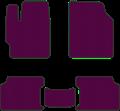 EVA коврики для Nissan фиолетовые