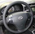 Оплетка на руль из натуральной кожи Hyundai Elantra IV (HD) 2006-2010 г.в. (черная) - фото 9386