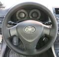 Оплетка на руль из натуральной кожи Toyota Corolla X (E140, E150) 2006-2012 г.в. (черная) - фото 9470