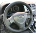 Оплетка на руль из натуральной кожи Toyota Corolla X (E140, E150) 2006-2012 г.в. (черная) - фото 9471