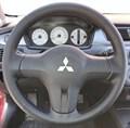 Оплетка на руль из натуральной кожи Mitsubishi Lancer IX Рестайлинг 2005-2010 г. в. (черная) - фото 9479
