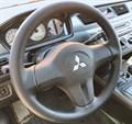 Оплетка на руль из натуральной кожи Mitsubishi Lancer IX Рестайлинг 2005-2010 г. в. (черная) - фото 9480