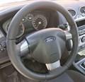 Кожаная накладка на трехспицевый руль Ford Focus II - фото 9490